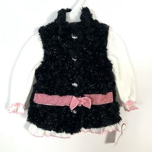 Little Lass girl jacket faux fur